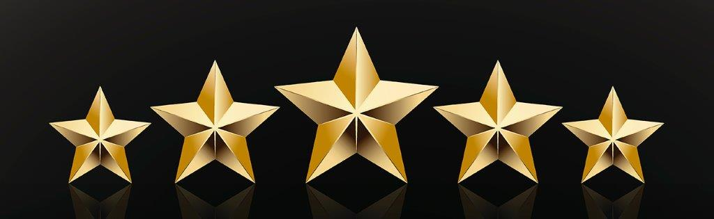 Five gold stars  - Clients Recommend Blackhawk Bank