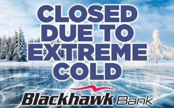 Image says Closed due to extreme cold.