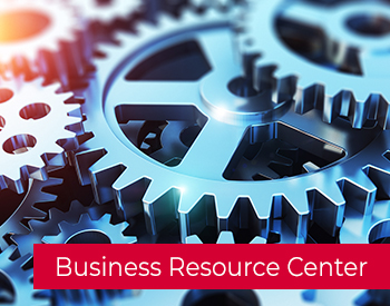 Gears with wording that says Business Resource center